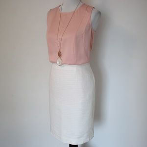 THE LIMITED Size 8 Skirt Blouse Set Pink White